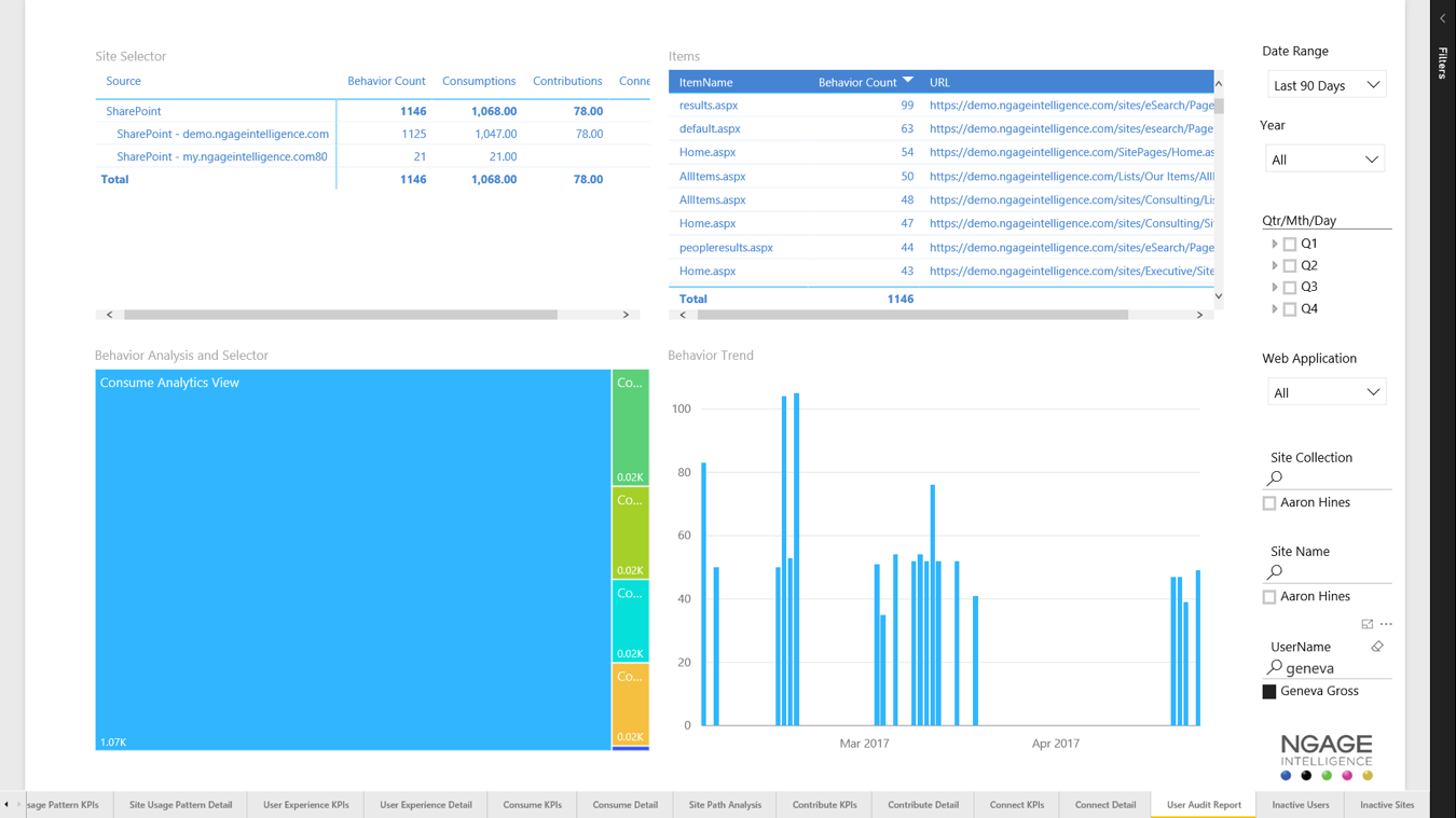 NGAGE User Audit Report