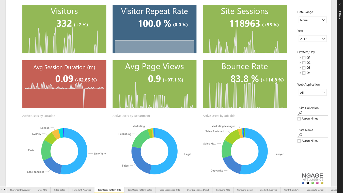 NGAGE Visitor and Usage Patterns